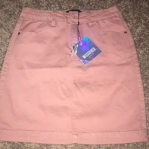 Missguided superstretch blush pink skirt